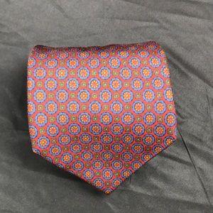 Coach vintage geometric design silk tie